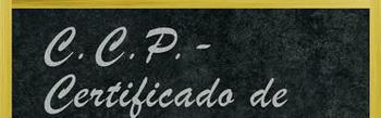 CCP Certificado de Competências Pedagógicas - (ex-CAP)